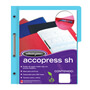 FOLDER DE PAPEL TAMAÑO CARTA ACCO ACCOPRESS P4553 TIPO CARPETA COLOR AZUL CLARO 1 PQ C/10 PZS