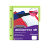 FOLDER DE PAPEL TAMAÑO CARTA ACCO ACCOPRESS P4558 TIPO CARPETA COLOR VERDE CLARO 1 PQ C/10 PZS