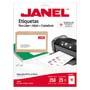 ETIQUETAS BLANCAS JANEL J-5163 DE 5.1X10.2 CM 1 PAQUETE (25 HOJAS)