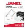 ETIQUETAS BLANCAS JANEL J-5260 DE 2.5X6.7 CM 1 PAQUETE