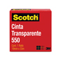 CINTA ADHESIVA CORTE FACIL SCOTCH 550 TRANSPARENTE DE 19 MM X 33 M 1 PZA