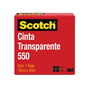CINTA ADHESIVA CORTE FACIL SCOTCH 550 TRANSPARENTE DE 19 MM X 65 M 1 PZA