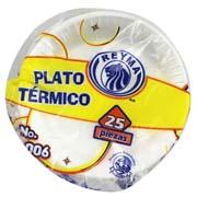 PLATO TERMICO, PASTELERO CON 25 PZAS
