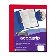 FOLDER DE PAPEL TAMAÑO CARTA ACCO ACCOGRIP P0961 TIPO CARPETA COLOR ROJO 1 PQ C/4 PZS