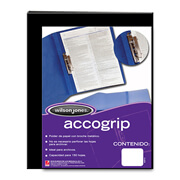 FOLDER DE PAPEL TAMAÑO CARTA ACCO ACCOGRIP P0962 TIPO CARPETA COLOR NEGRO 1 PQ C/4 PZS