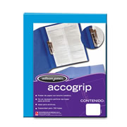 Folder accogrip c/broche metalico car
