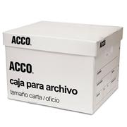 CAJA PARA ARCHIVO TAMAÑO CARTA / OFICIO ACCO DE PLASTICO DE 31 X 38 X 25 CM 1 PIEZA