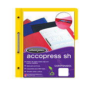 Folder accopress amarillo c/broche de