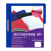 FOLDER DE PAPEL TAMAÑO CARTA ACCO ACCOPRESS P4554 TIPO CARPETA COLOR AZUL OSCURO 1 PQ C/10 PZS
