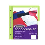 Folder accopress verde claro con broc