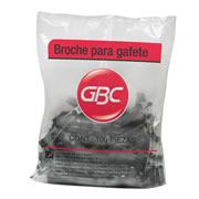 BROCHE PARA GAFETE GBC TIPO CAIMAN COLOR NEGRO 1 PAQUETE CON 100 PIEZAS