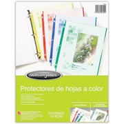 PROTECTOR DE HOJA CARTA WILSON JONES MULTICOLOR 1 PAQUETE