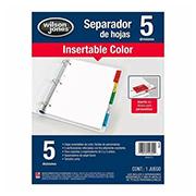 SEPARADOR ACCO P0560 CON 5 DIVISIONES