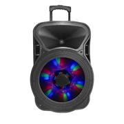 BOCINAS BAFLE INALAMBRICO ACTECK AUBO-014 CONEXION PLUG 1/4 AUX Y RCA USB Y BLUETOOTH COLOR NEGRO