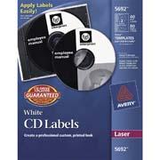 ETIQUETAS PARA CD / DVD AVERY 5692 COLOR BLANCO 40 PIEZAS PARA DISCO Y 80 PIEZAS PARA EL LOMO