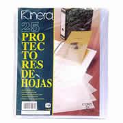 PROTECTOR DE HOJAS KINERA TAMAÑO CARTA TRASLUCIDO 1 PAQUETE CON 25 PZAS