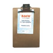 TABLA SUJETAPAPEL BACO FIBRACEL TAMAÑO CARTA DE PLASTICO CON BROCHE METALICO 1 PIEZA