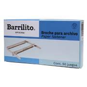BROCHE PARA ARCHIVO BARRILITO DE 8 CM CAJA CON 50 PIEZAS