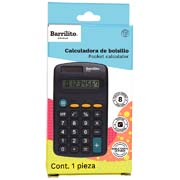 CALCULADORA DE BOLSILO BARRILITO 7723G DE 8 DIGITOS