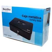CAJA PARA DINERO METALICA BARRILITO CM4 COLOR GRIS