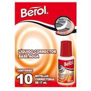 CORRECTOR TIPO LIQUIDO BEROL BEROL BASE AGUA CONTENIDO 17 ML 1 PIEZA