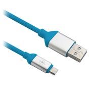 CABLE USB V2.0 A MICRO B 1.2M AZUL