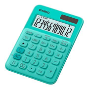 CALCULADORA SEMI-ESCRITORIO CASIO MS-20UC-GN-S-EC DE 12 DIGITOS
