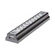 HUB USB V2.0 10 PTOS CON FUENTE GRIS