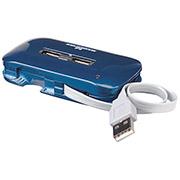 HUB USB V2.0 7 PTOS CON FUENTE AZUL