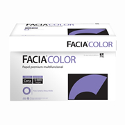 Papel facia bond color azul carta