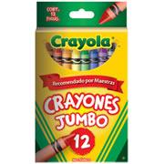 CRAYONES JUMBO CRAYOLA COLOR SURTIDO CAJA CON 12 PIEZAS