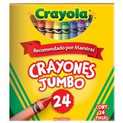 CRAYONES JUMBO CRAYOLA COLOR SURTIDO CAJA CON 24 PIEZAS