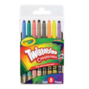 Mini crayones TWISTABLES con 8 piezas