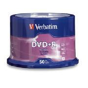 DVD VERBATIM 95525/97174 CAPACIDAD 4.7 GB VELOCIDAD DE TRANSFERENCIA 16X PAQUETE DE 50 PIEZAS