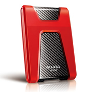 DISCO DURO EXTERNO ADATA HD650 DE 1 TB COLOR ROJO