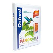 CARPETA DE VINIL PANORAMICA ARILLO EN O DE 0.5 PULGADAS COLOR BLANCA OXFORD PANORAMA 1 PIEZA