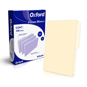 FOLDER DE PAPEL TAMAÑO OFICIO TOPS PRODUCTS OXFORD  M758CRE TIPO 1/2 CEJA COLOR CREMA 1 PQ C/100 PZS