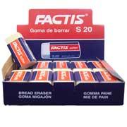 GOMA BLANCA FACTIS S20 DE MIGAJON CAJA CON 20 PIEZAS