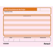 VALE DE CAJA FORTEC 3 BLOCK CON 50 HOJAS