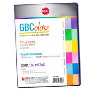 CUBIERTAS GBC GBCOLOR P3280 TAMAÑO CARTA 1 PAQUETE CON 60 PIEZAS