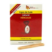 LIGAS DE HULE NATURAL HERCULES NO. 33 COLOR BEIGE 1 PAQUETE CON 100 GR