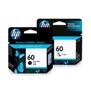PACK DE 2 CARTUCHOS DE TINTAS HP 60 NEGRO Y TRICOLOR ORIGINAL CC640WL Y CC643WL