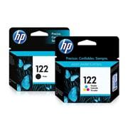 PACK DE 2 CARTUCHOS DE TINTAS HP 122 NEGRO Y TRICOLOR ORIGINAL CH561HL