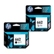 PACK DE 2 CARTUCHOS DE TINTAS HP 662 NEGRO Y TRICOLOR ORIGINAL CZ103AL Y  CZ104AL