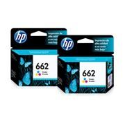 PACK DE 2 CARTUCHOS DE TINTAS HP 662 TRICOLOR ORIGINAL CZ104AL