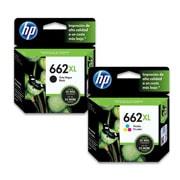 PACK DE 2 CARTUCHOS DE TINTAS HP 662XL NEGRO Y TRICOLOR ORIGINAL CZ105AL Y CZ106AL