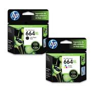 PACK DE 2 CARTUCHOS DE TINTAS HP 664XL NEGRO Y TRICOLOR ORIGINAL F6V31AL Y F6V30AL