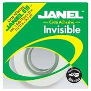 CINTA ADHESIVA INVISIBLE JANEL 810 COLOR TRANSPARENTE DE 12 MM X 33 M 1 PZA