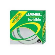 CINTA ADHESIVA INVISIBLE JANEL 810 COLOR TRANSPARENTE DE 12 MM X 65 M 1 PZA