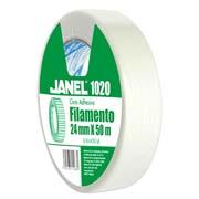 CINTA ADHESIVA DE FILAMENTO JANEL 1020 COLOR TRANSPARENTE DE 2 4MM X 50 M 1 PIEZA